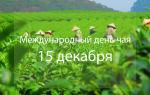 Международный день чая – всемирный праздник чая 15 декабря