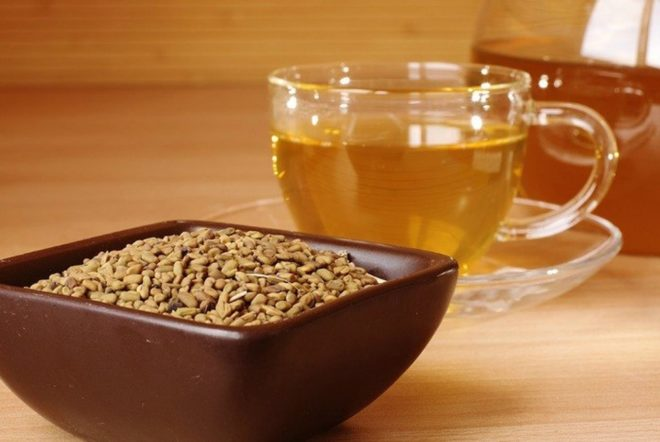семена и чай