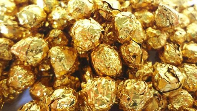 золотые шарики